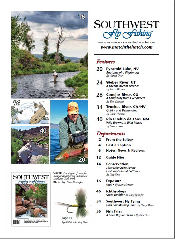 SWFF Table of Contents Nov/Dec 09