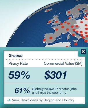 BSA piracy report 2011 Greece