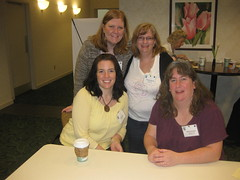 Julie, Mara, Deb and Me at Gleek Retreat 11