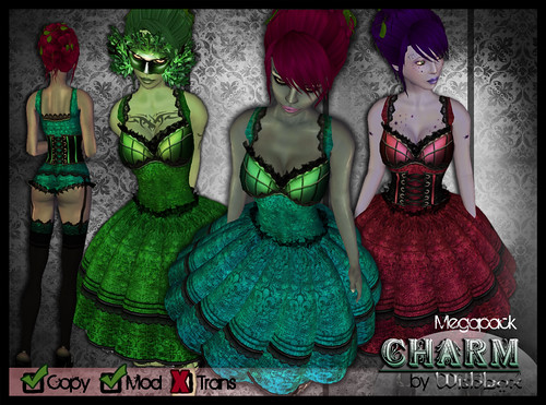 Charm EGL Fantasy Dress with Lingerie Megapack