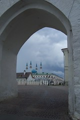 Kazan Kremlin (shotlandka) Tags: world old white heritage history geotagged ancient arch russia mosque historic unesco cobbles fortress kremlin kazan qulsharif