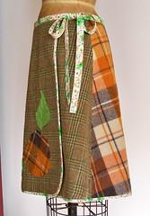Plaid Skirt Side