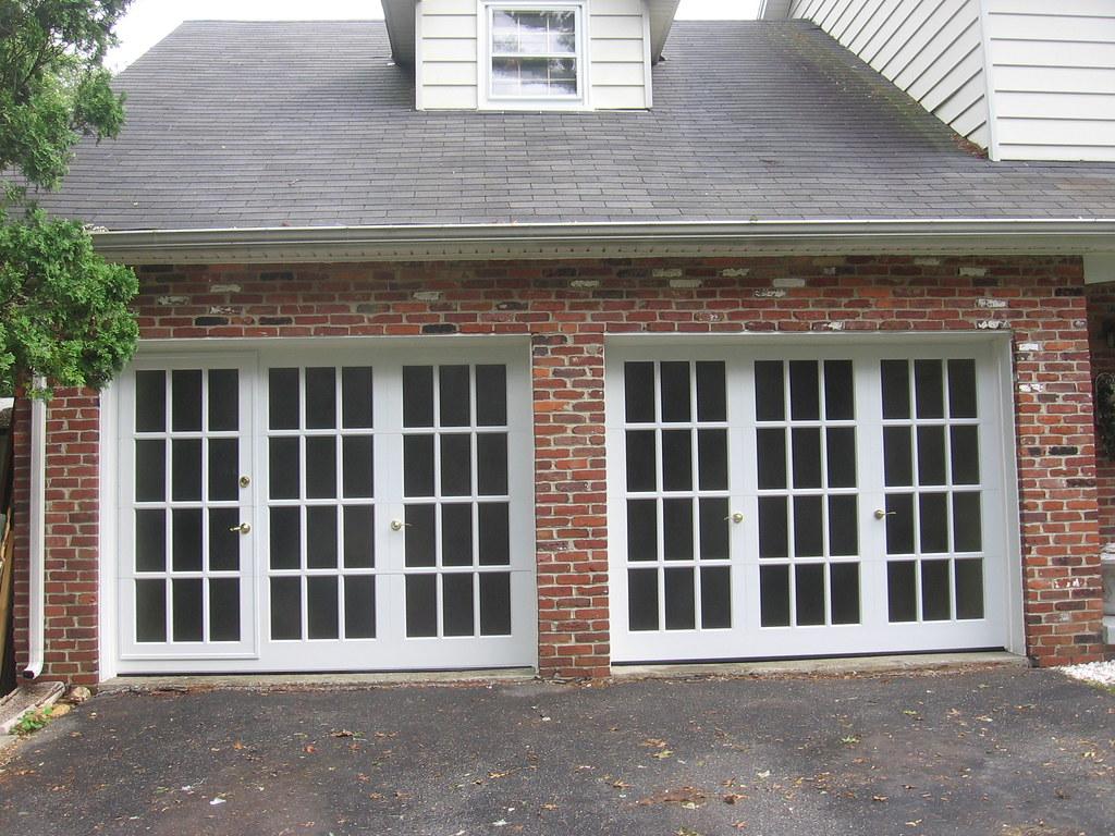 windows pin garage door painted and sidewalls taupe metal w white walk through roof x overhead window