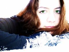 Oh how do I wish (Lindsey Mae) Tags: snow photoshopped redhead greeneyes