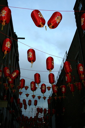 Chinatown, London on Chinese New Year