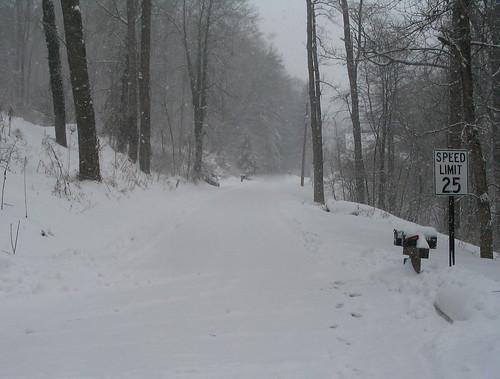 Snowy Met-o-wood Lane