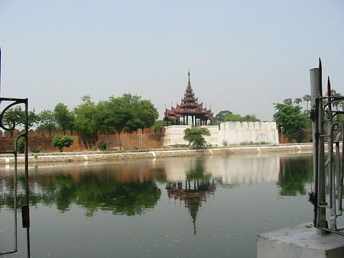 deeltje van het Mandalay Fort