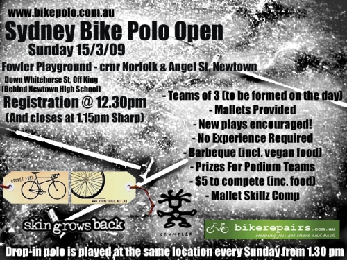 Sydney hardcourt bike polo open