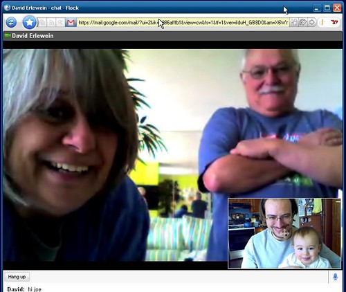 Jules and I chat with Grandma and Grandpa