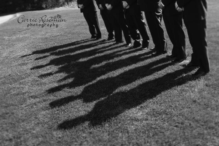 Groom's shadows