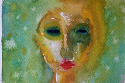 cliodhna quinlan, watercolour, face