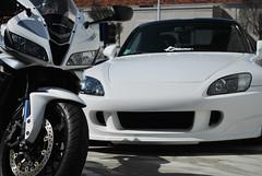 CBR&S2K02 (ReGMiLLa) Tags: white car honda leo wheels vince convertible grand spoon prix motorbike turbo motorcycle s2k crg s2000 exhaust jdm volk cbr600 cbr amuse ap1 mugen cbr600rr gpw ce28 hons2k