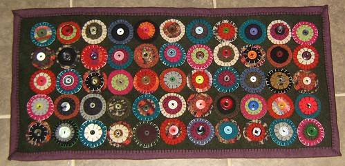 felt penny rug