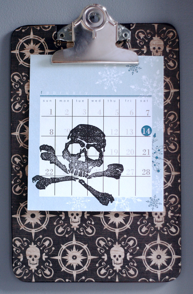 Calendar + holder