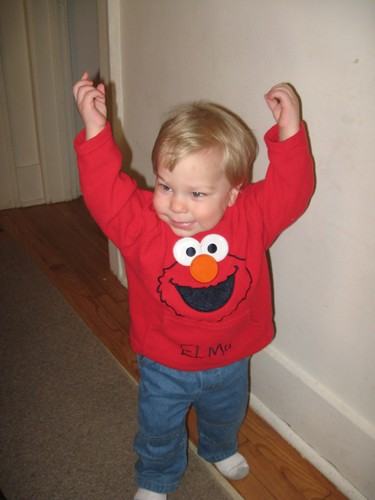 All ready to go see Elmo, Cookie and friends