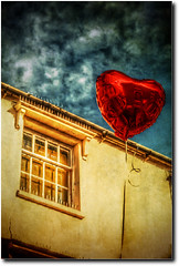 Oi Juliet!  D'youz Get Me Text? (Finntasia) Tags: light silly love window mobile modern fun soft candle play message heart balcony joke text balloon shakespeare william valentine dorset romeo amusing juliet daft bridport messaging ringtone abigfave finntasia heartawards nigelfinn ceptnobalcony