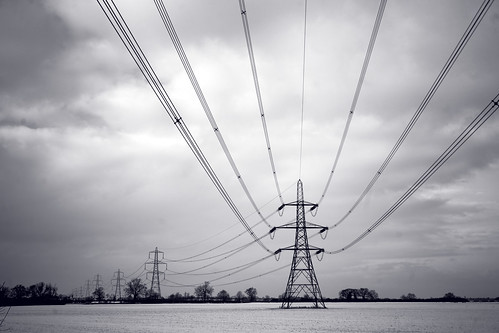 Power Lines and Snow
