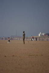 Alone In The Crowd (Mortarman101) Tags: sculpture beach haze sand crosby merseyside anthonygormley anotherplace anawesomeshot