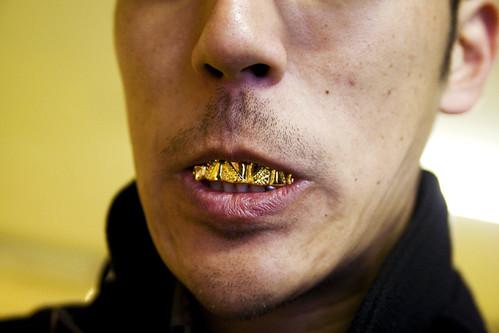 greg + bling teeth