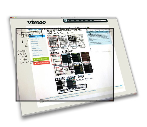 sketch to screen: vimeo channels v2 settings page / Sockyung 'Sox' Hong