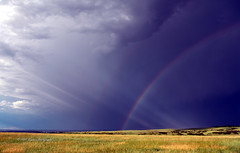 Refraction Displayed (GalaxyFan (Bighorn Photography)) Tags: light rain clouds rainbow nikon colorado refraction thunderstorm storms moisture nikond200 coloradorainbow coloradothunderstorm bighornphotography