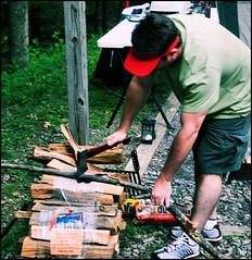 learn how to play the game (mlsjs) Tags: statepark wood camping jason man male crossprocessed maryland chopping axe rockygap
