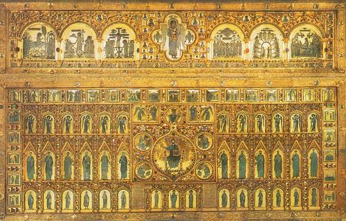 聖馬可教堂(San Marco Basilica)中的黃金祭壇屏(Pala d'Oro),極盡奢華,跟鎮瀾宮有得比。來源:VeniceWiki官方網站