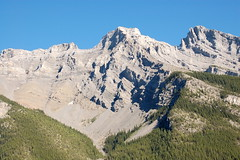 Folded Strata on lower slopes of Mt. Inglismaldie from Lake Minnewanka (Chris Haley) Tags: banffnationalpark canadianrockies minnewanka inglismaldie