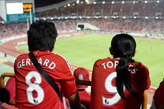 Gerrard and Torres in Bangkok