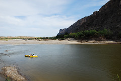 Paddling the Rio Grande at Santa Elena March 09