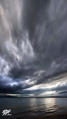 Skyhigh (andreasfeusi.ch) Tags: blue sunset lake storm yellow clouds grey see nikon wolken grau zug gelb blau d3 sturm oberwil andreasfeusich