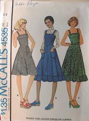 mccalls_4535 (redcleo) Tags: dress cotton 1975 denim corduroy pique chintz seersucker mccalls 4535 woolflannel