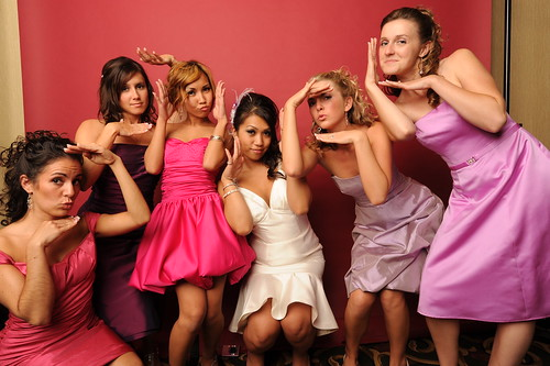 Bridesmaids Dresses in different colors