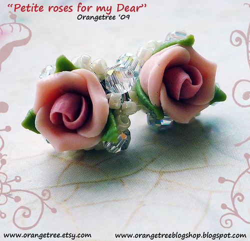 petite roses for my dear earrings