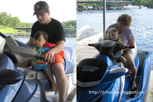 Matthew and Ally on seadoos