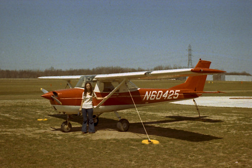 Girl with light plane