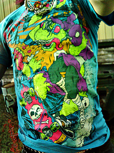 """Electric Zombie"" limited edition - Mondo Teal { Mondo Gecko }  Tee  // C (( 2009 ))"