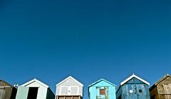 welcome (handheld-films) Tags: blue sky beach beachhuts