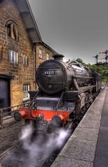 45212 Passing Grosmont Station 2 (Owen..) Tags: uk steam hdr grosmont uksteam 45212 mywinners northyorksrailway