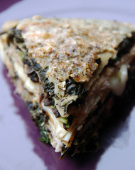 Spinach, Mushroom and Smoked Turkey Crepes Terrine