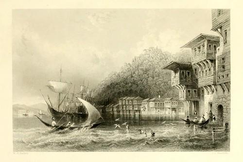 021-Yenikeuij en el Bosforo-Las bellezas del Bosforo 1838-W.H. Bartlett
