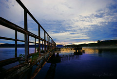 Unused old pier ( DocBudie) Tags: sunrise cloudy unused laketoba oldpier pulausamosir samosirisland northsumatra danautoba sumaterautara dermaga dermagatua pelabuhansimanindo