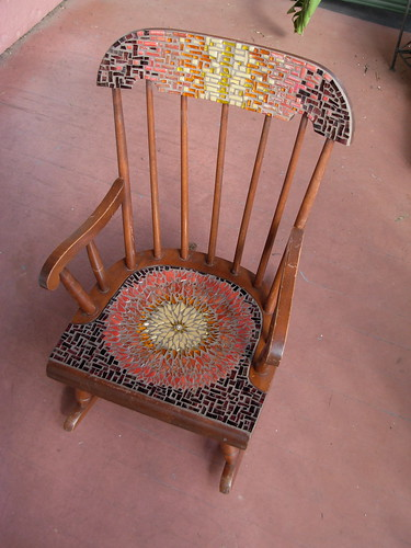 Sunflower Mandala Chair by Margaret Almon