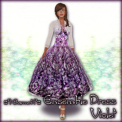 Hibiscus Ensemble Dress (Violet)
