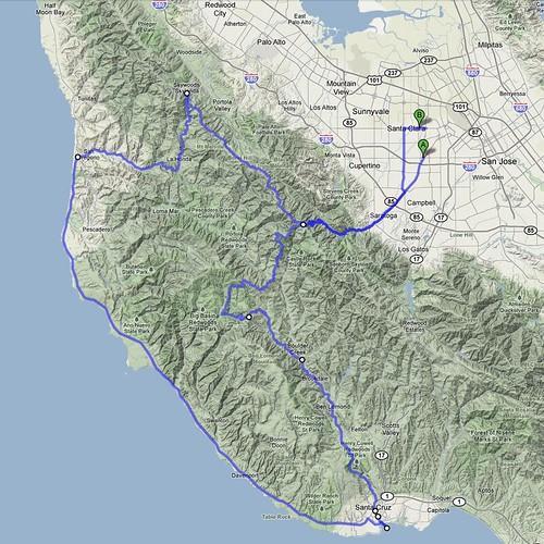 Itineraire balade avec Fred en Californie