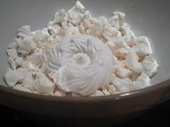 Break up the meringue