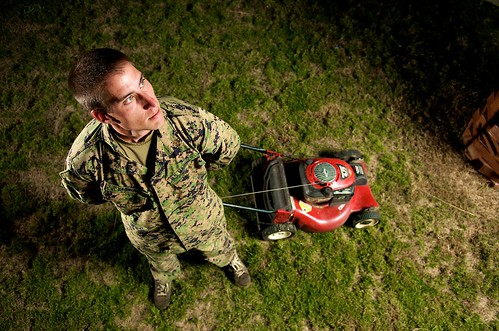 Military Mower Man