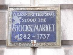 Photo of Stocks Market blue plaque