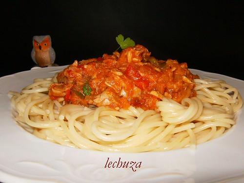 Espaguetti con atún-otro