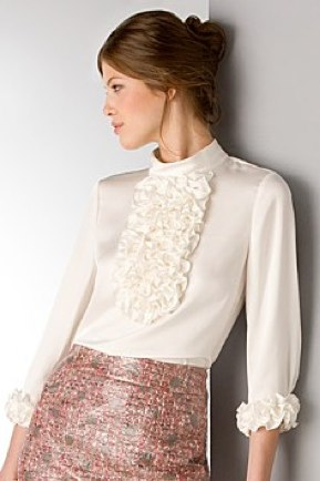 kate spade new york _Bisous_ Ruffled Silk Blouse - Bloomingdales.com $275